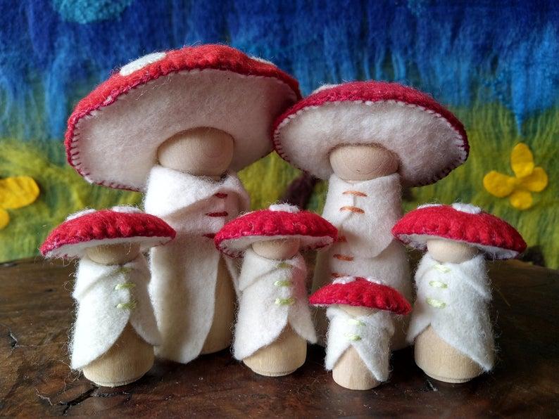 Niniani creations mushroom folk family