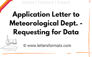 Letter to Meteorological Department - Requesting for Data