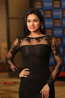 Actress Soniya Stills in Beautiful Black Long Dress at SIIMA Short Film Awards 2017 .COM 0026.JPG
