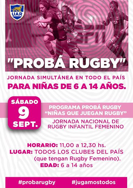Jornada nacional de rugby infantil femenino el 9 de septiembre