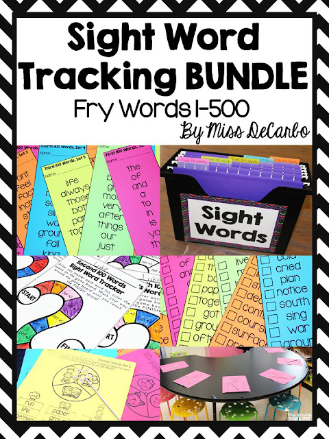 Sight Word Tracking System: Using Small Group Warm Ups To Maximize Your Time At The Small Group Table: Tips For Elementary Small Group Instruction