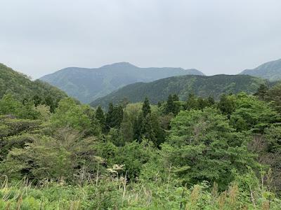 佐谷峠展望所から見た景色