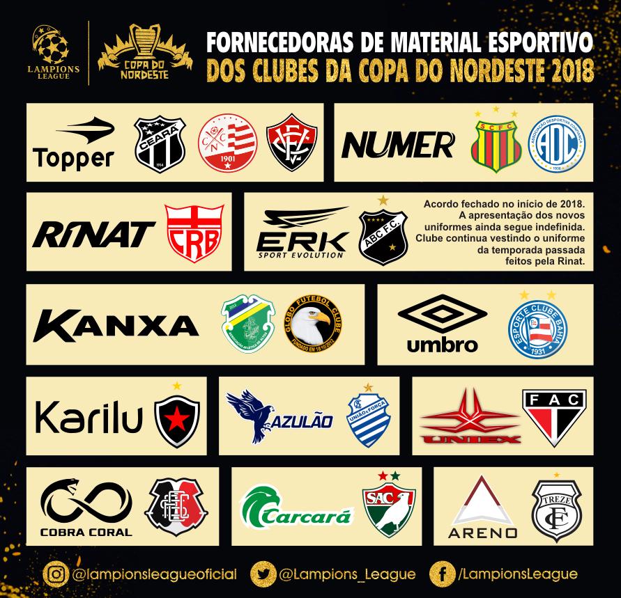As fabricantes esportivas da Copa do Nordeste 2018 - Show de Camisas 8bd4133b8af69