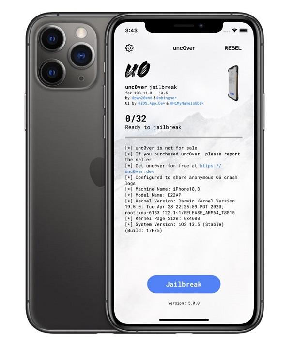 Unc0ver iOS 13 Jailbreak Tool