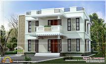 Beautiful Home Design Flat Roof Style - Kerala