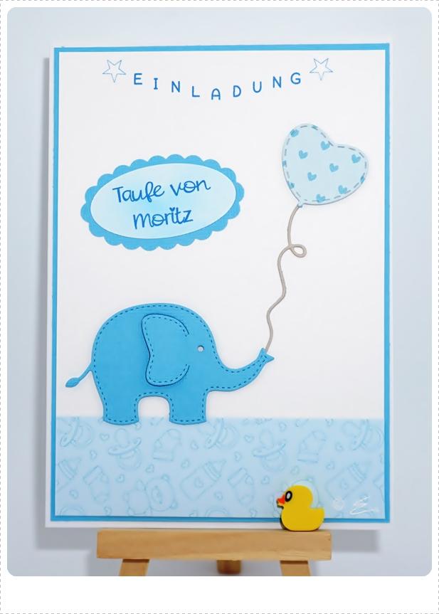 Elfis Kartenblog Taufe Moritz