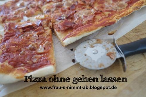 froilein sanneblume basics schneller hefeteig 5 sp ohne gehen lassen pizza schinken. Black Bedroom Furniture Sets. Home Design Ideas