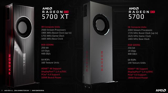 كل ما تريد معرفته عن بطاقة RADEON RX 5700 TX و RX 5700 من AMD