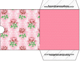 Shabby Chic with Pink Roses: Free Printable Candy Bar Labels.