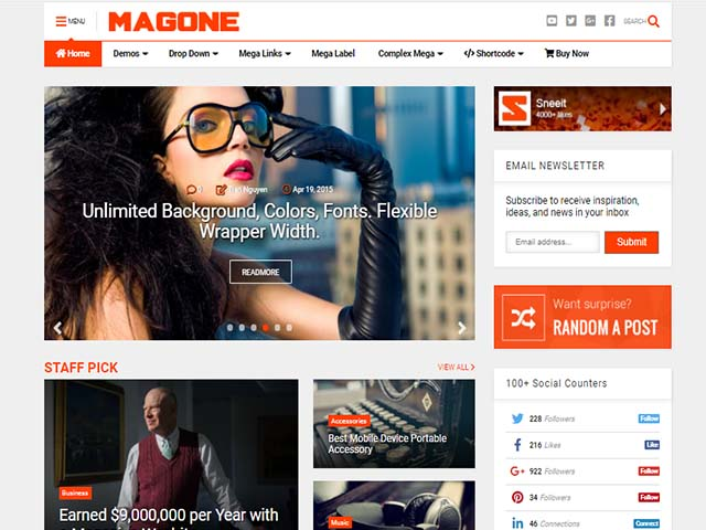 magone blogger themplate