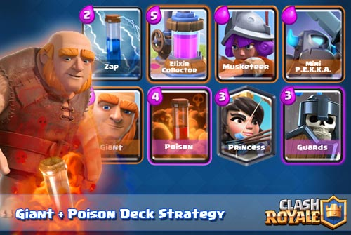 Deck Giant Poison Spell Arena 7 8 9 Clash Royale