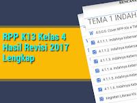 RPP K13 Kelas 4 Hasil Revisi 2017 Lengkap