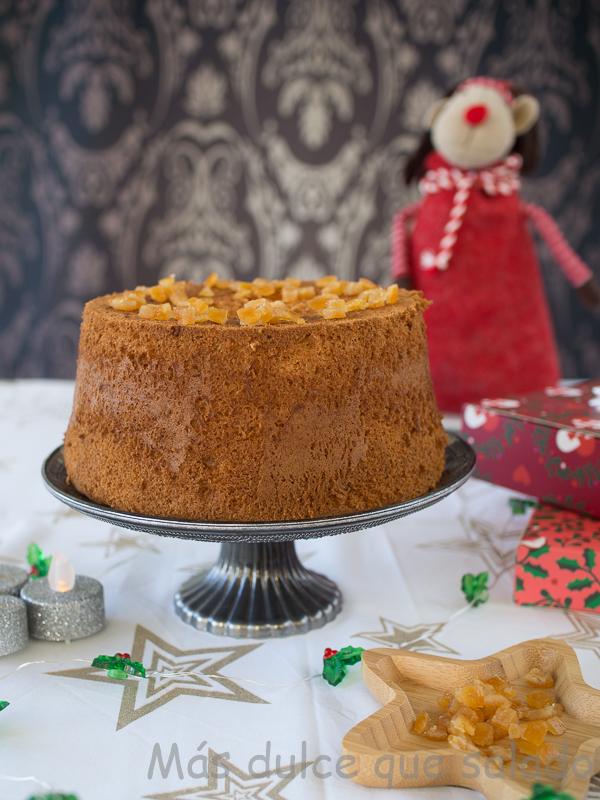 Chifon Cake con naranja confitada
