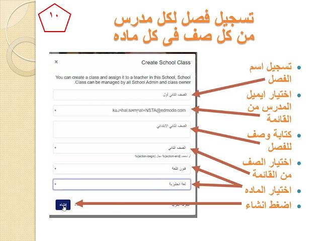 بالخطوات خطوات التسجيل على المنصة للمعلم والطالب وطريقة اعداد الطالب للمشروعات البحثية 10
