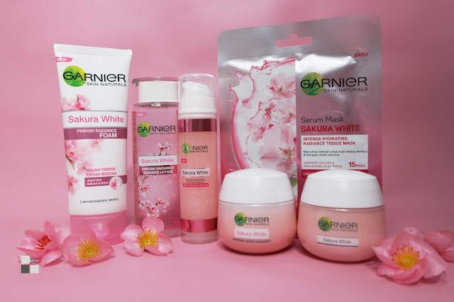 Wajah Cerah Merona dan Glowing Dengan Rangkaian Garnier Sakura White #ShowYourGlow
