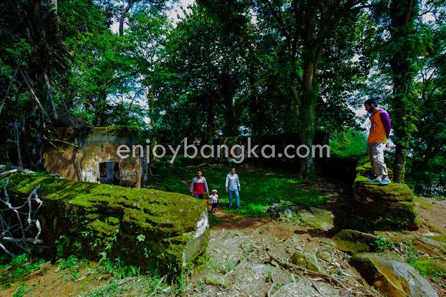Wisata Benteng Toboali di enjoy bangka
