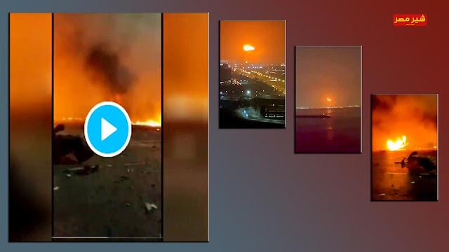 صور انفجار ميناء دبي اليوم