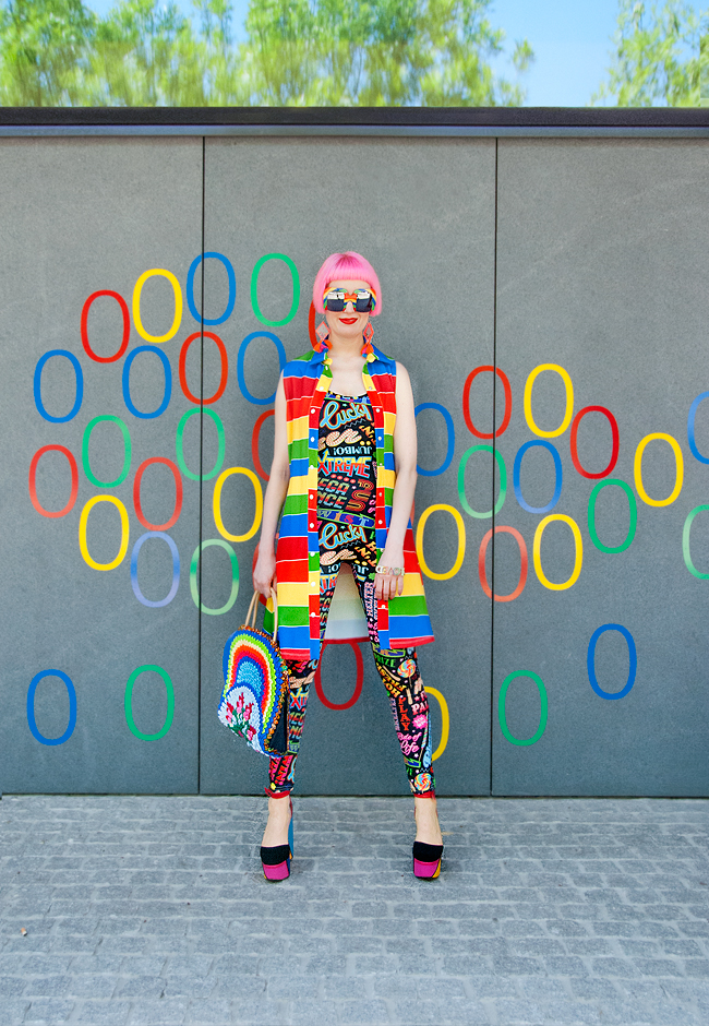 fashion blogger,  summer look, colourful outfit