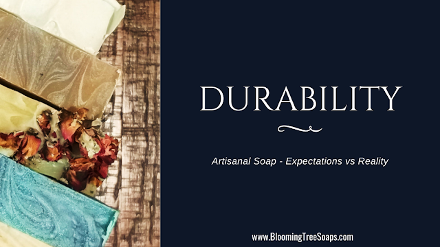 Blog post image on the subject of artisanal soap durability, expectations vs reality