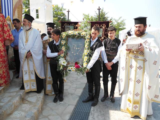Υποδοχή της Ιεράς εικόνας Αγ. Βαζελώνα εκ Πόντου, στο Μαρούσι