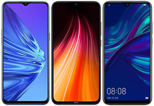 Realme 5 128 GB vs Redmi Note 8 32 GB vs Huawei P Smart 2019