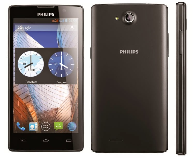 Philips W3500, Phablet Quad Core Kamera 5 MP