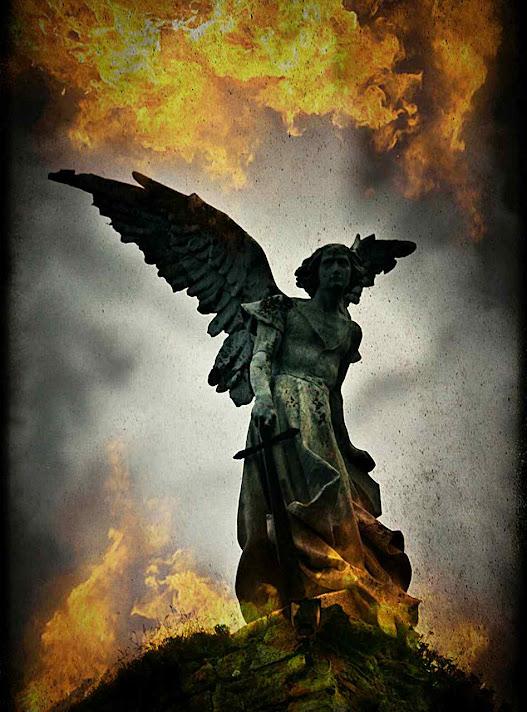 Anjo exterminador, cemitério de Comillas, escultura de Josep Llimona.