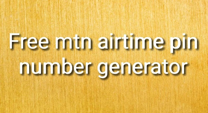 Free mtn airtime pin number generator