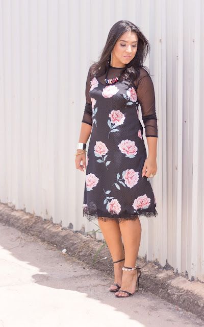 Slip dress floral: look do dia