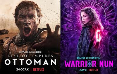 Netflix İçerikleri (Rise of Empires: Ottoman, Truva: Bir Şehrin Düşüşü, Warrior Nun, Coronavirus Explained)
