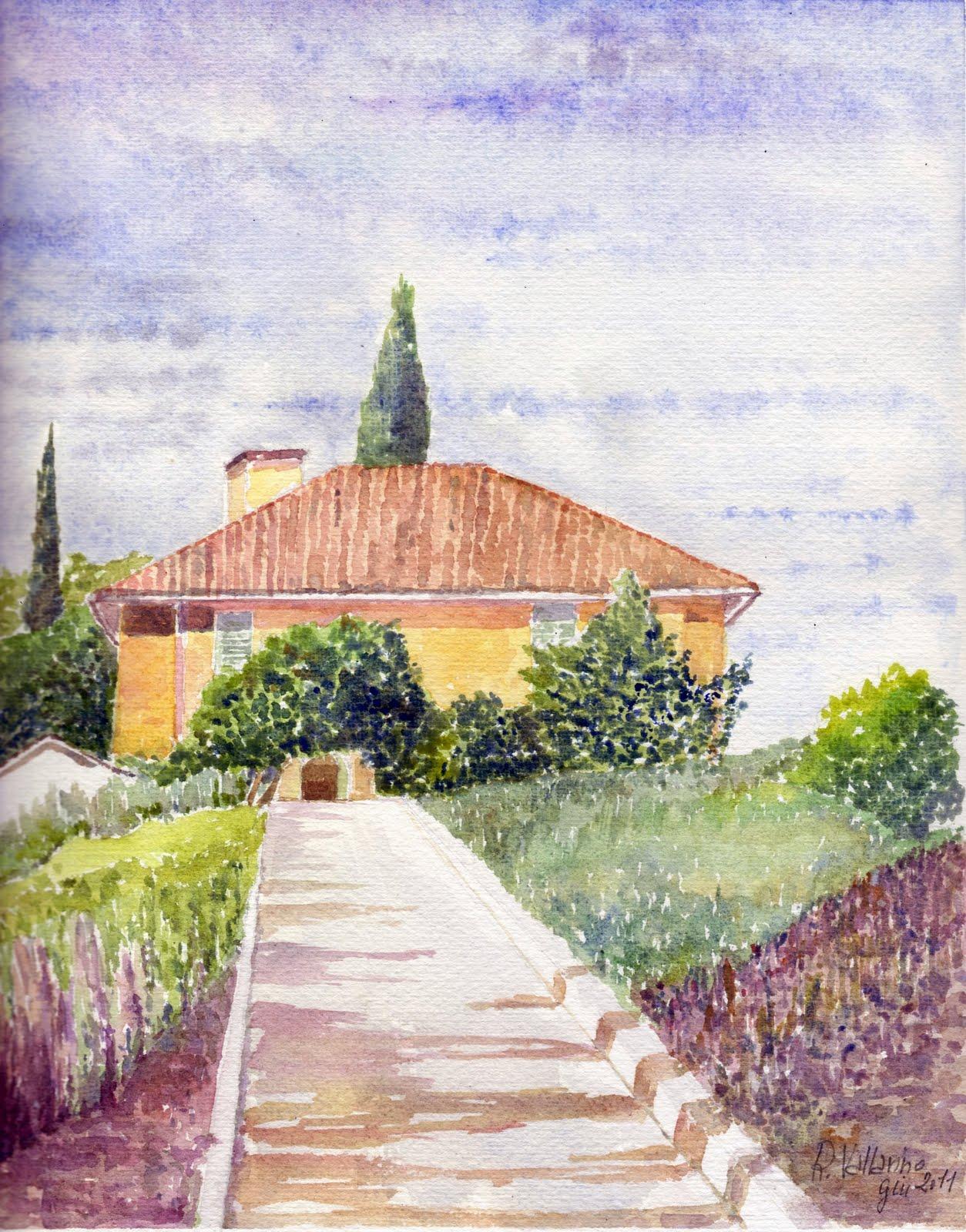 acquerelli di Roberto Vallarino Paesaggi toscani
