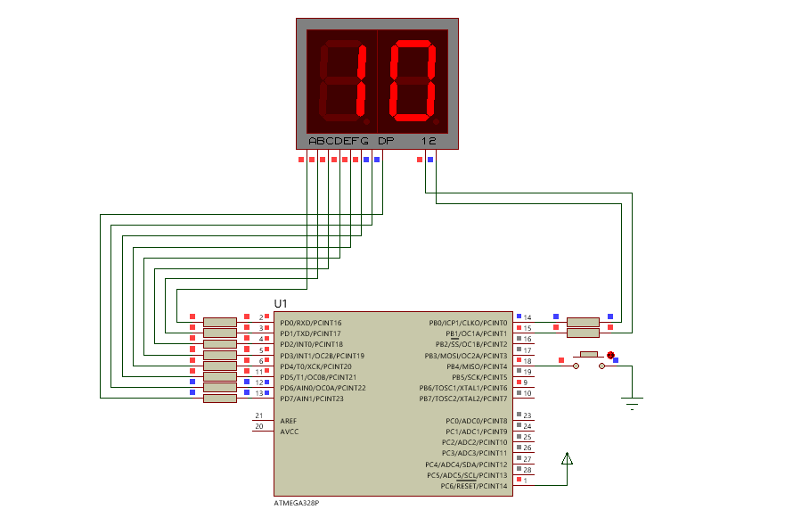 AVR: Display 7 Segmentos