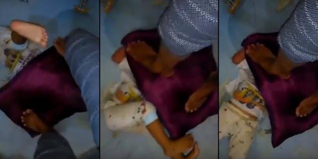 Biadab! Ibu Ini Siksa Anak Kandung Sendiri Dengan Menginjak Kepala Pakai Bantal