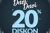 Es Teler 77 Promo Dewi Dewi Diskon 20% Khusus Perempuan Edisi Maret 2020