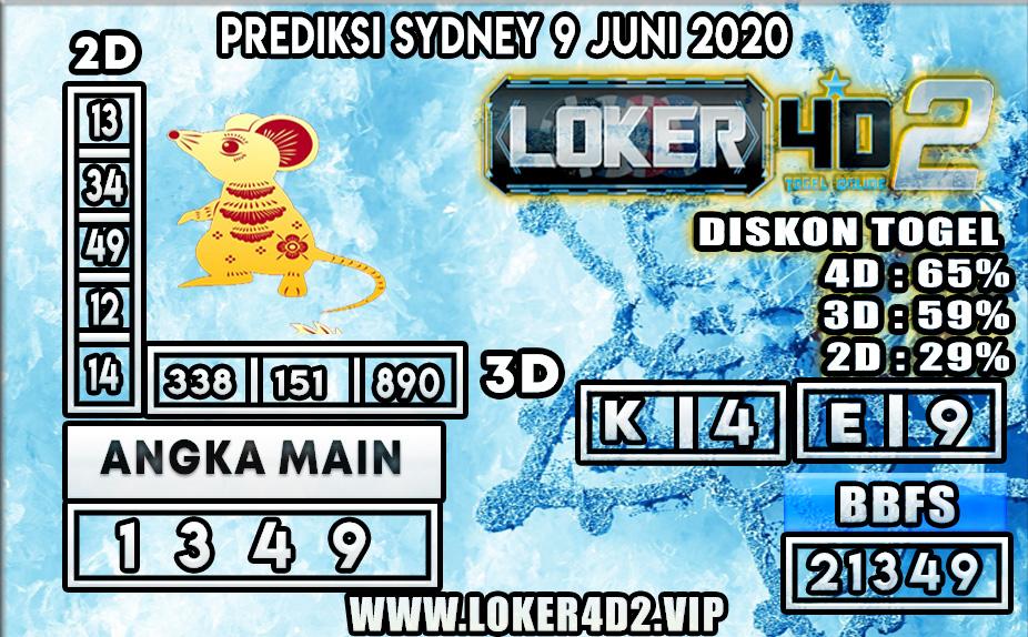 PREDIKSI TOGEL SYDNEY LOKER4D2 09 JUNI 2020