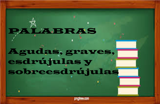 EJEMPLOS DE PALABRAS AGUDAS, GRAVES, ESDRÚJULAS Y SOBREESDRÚJULAS