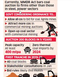Ordinance enabling FDI in coal mining