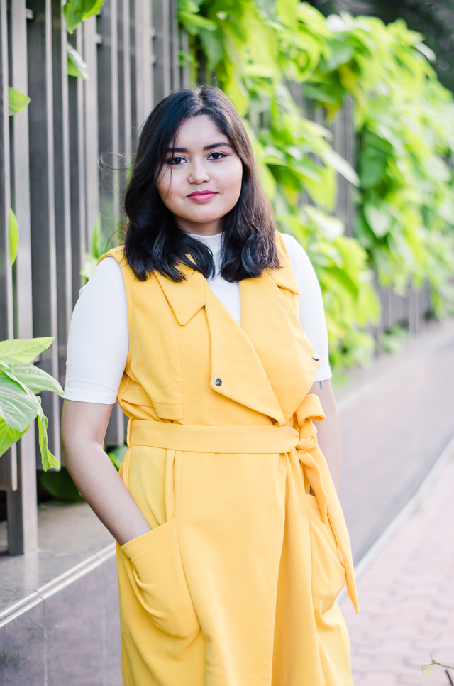 Yellow Duster Coat and Leopard Espadrille Flats Outfit