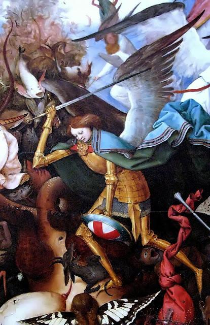 Queda dos anjos rebeldes. Pieter Bruegel, detalhe
