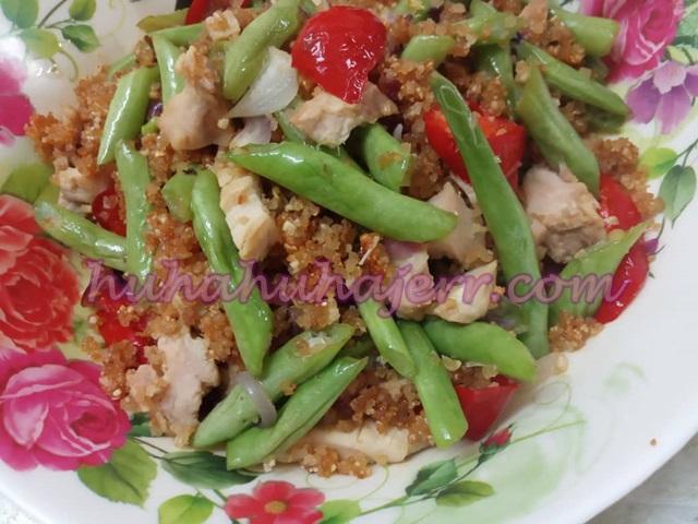 Resepi Pekasam Ayam Goreng Dengan Kacang Buncis, Lazat Uhh!