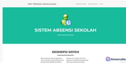 Sistem Absensi Sekolah Berbasis Web - PHP