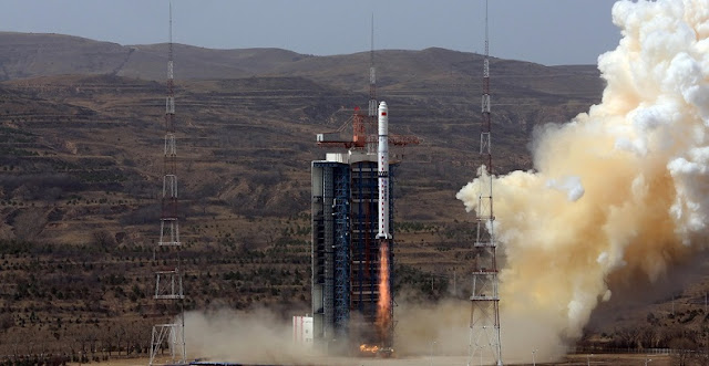 Long March 4C launches with Gaofen-1 trio on March 31. Photo Credit: Xu Chuenlei/Xinhua