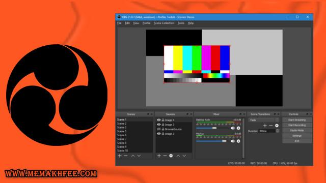 OBS Studio هو مجاني لتسجيل الشاشة لنظام التشغيل Windows 10
