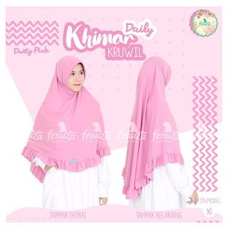 Khimar Daily Fenuza Kruwil Dusty Pink