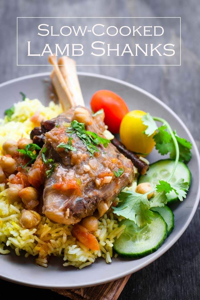 Best Braised Lamb Shanks recipe by Nigella Lawson.  These slow cooked lamb shanks are super easy to make on stove or using a crockpot.