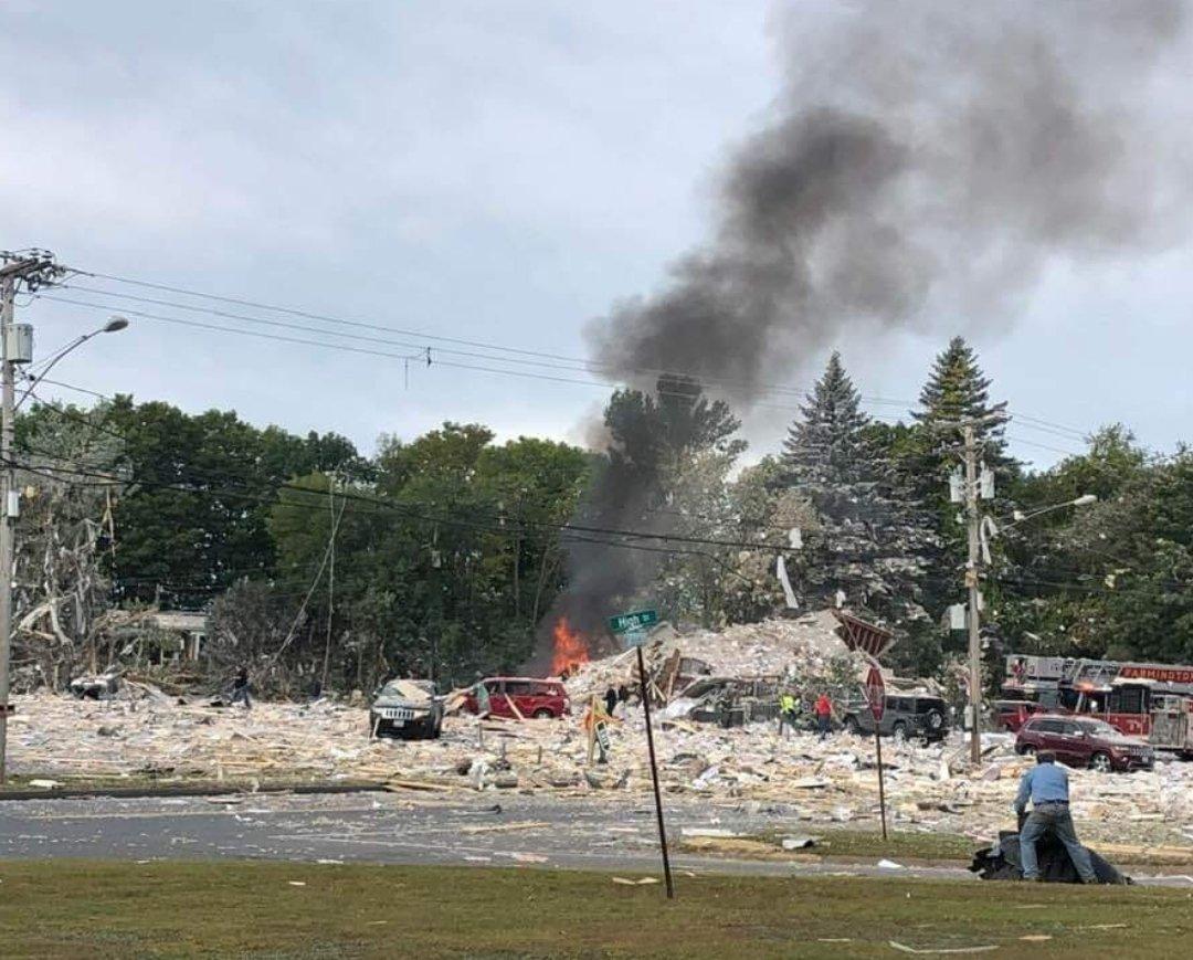 Sprādziens nopostā invalīdu centru Menas štatā