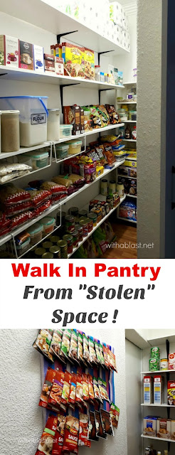 Do YOU have space for a Walk In Pantry ? You might ! Have a look what we did