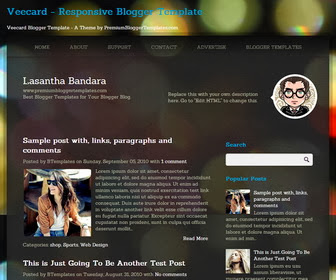 Veecard Blogger Template