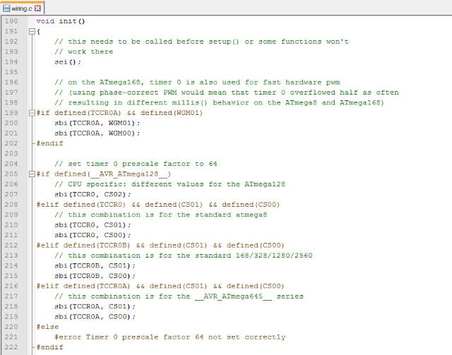 Стандартная инициализация периферии в Arduino