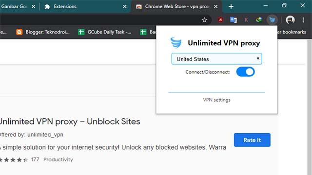 Cara Membuka Blokir situs dengan unlimited VPN Proxy